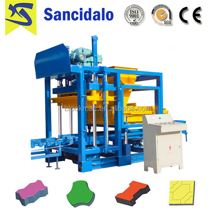 QT4-15S automatic concrete single phase brick making machine price