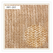 woven paper warp knitted fabric for fashion handbags bags shoes raschel straw knitted fabric