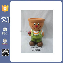 Garden round terracotta plant pot for wholesale