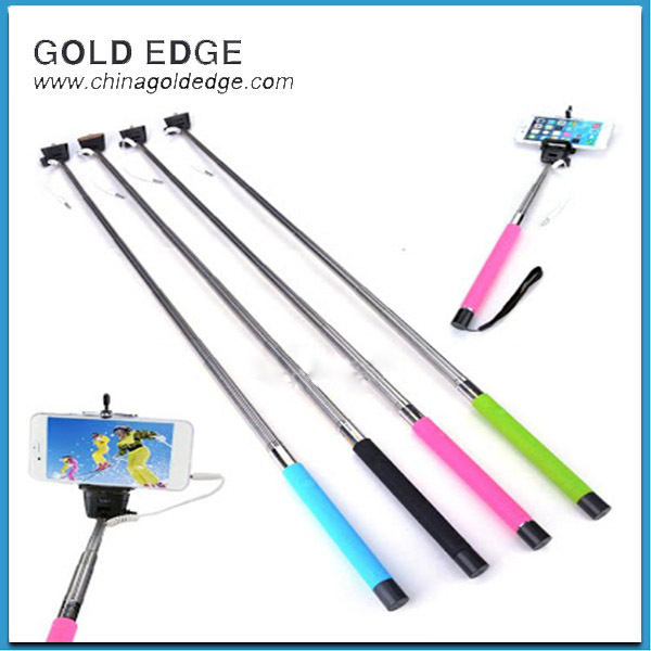 High Quality Audio Cable Take Pole Selfie Stick, Without Battery and Bluetooth