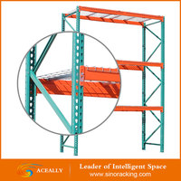 Warehouse Metal Industrial Teardrop Pallet Rack