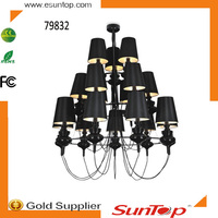 Elegant designer modern chandelier lighting/modern chandelier/hotel chandelier for hotel/project/villadom