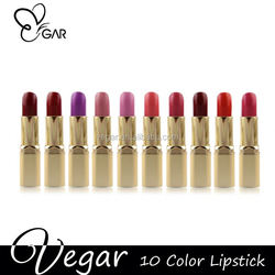 ultra-rich color lipstick 10 colors for option raw materials of lipstick