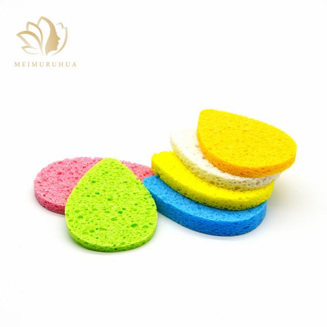 natural wooden fiber sponge makeup cellulose foam sponge