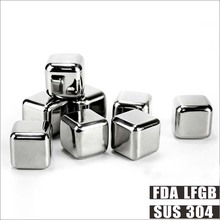 Super Quality Metal Ice Cube Reusable Ice Cubes With Logo