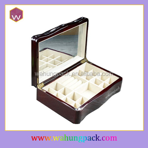 Handicraft Wooden Ring/Necklace Jewelry Case/Quality Jewel Cosmetic Box