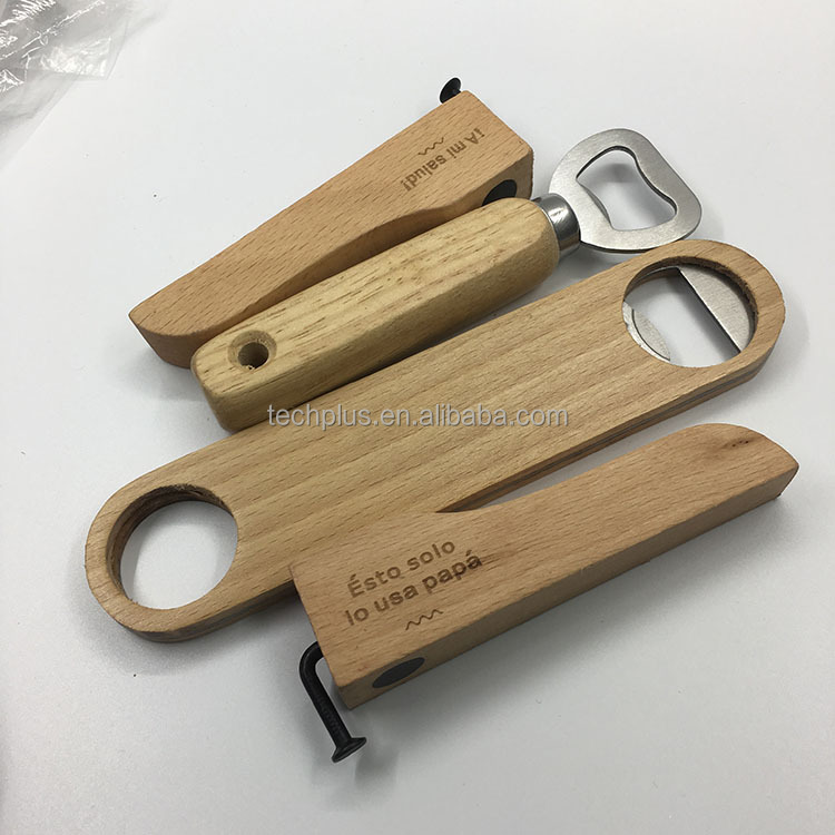 cheap bulk wooden bottle opener