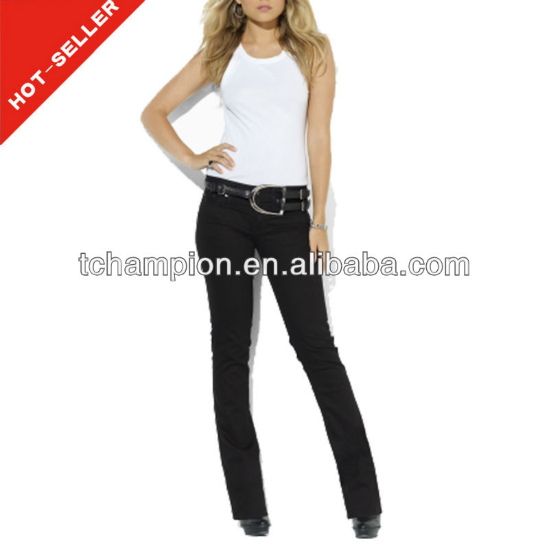 (#TG055W) 2013 fashion flare cutting of ladies trousers