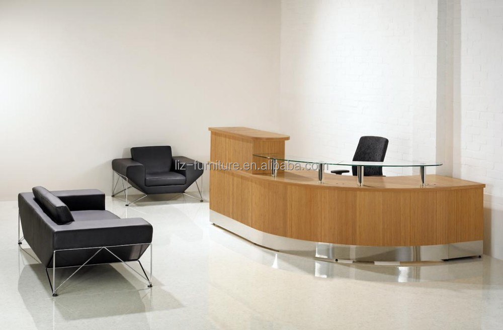 Modern reception desk ,curved reception table AM-115