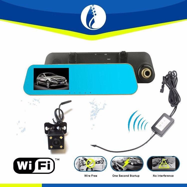 rearview mirror wifi wireless backup camera vehicle reverse camera small hidden camera for car
