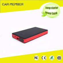 Car Member new arrival multi-function 8000mah 12v emergency car jump starter with air compressor