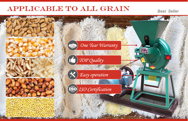 Home mini all purpose grain rice oat almond potato yam chilli pepper sorghum cassava bean maize corn wheat flour making machine
