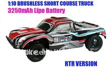 1/10 Scale 4WD Brushless Short Course RC Truck with 7.4V 3250mAH Lipo battery + B3 charger
