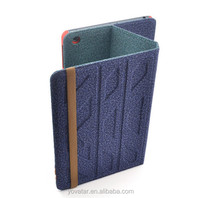 2014 Newest two side available use fabric case for ipad air,two way leather case