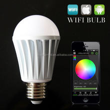 new products for marketing 6w9w fiber marking led bulb aluminum play by SmartPhone