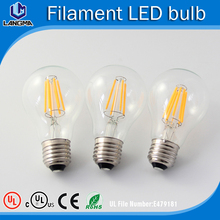 B22 / E27 A60 A19 Led Filament Bulb, E14 / E12 G80 Filament LED globe, C35T / C35 Filament led candle light