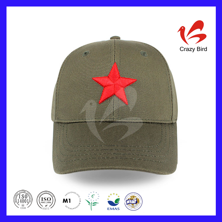 Wholesale Cotton Twill Baseball Cap Round Cap Army Cap Economical Comfortable Hats