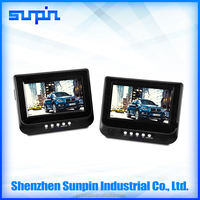 7 Inch Dual Screen Portable DVD Player, Car Headrest Monitor DVD Players with 800x480 Pixels