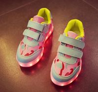 Kids cheap products to sell 7colours usb charing led light up shoes