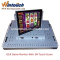 "POG/WMS game 22"" LCD game monitor with 3M touch screen with bezel"