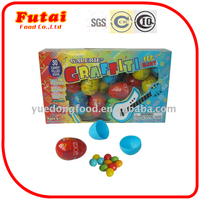 10g Colorful toys egg shape candy