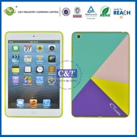 2014 hotsale fashion rubberized hard cover case for ipad mini 2