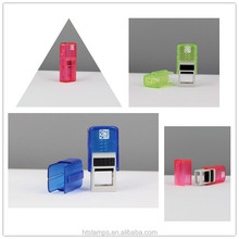 Free sample Square 15x6mm Factory HongTu transparent Self inking rubber stamp