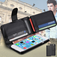 Luxury Multi-function Leather Card Slot Litchi Wallet Flip Magnetic Phone Case Cover For iPhone 6 4.7inch