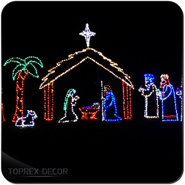 New unique product ideas rope led christmas nativity set