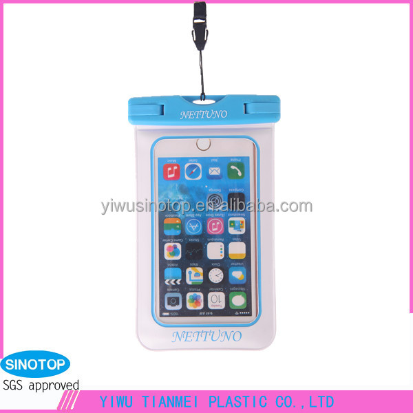2017 custom logo wholesale cheap pvc mobile phone clamp waterproof case