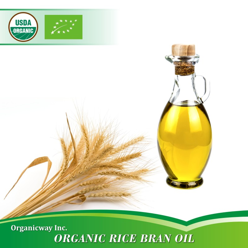 NOP EU Certified Organic Rice Bran Oil