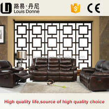 Popular Modern Fashionable King Size Recliner Leather Sofa