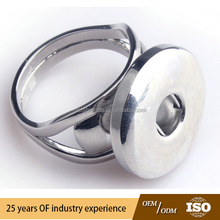 DIY zinc alloy finger ring fit snap button popular on sale