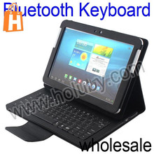 Lichee Pattern Leather Case+Wireless Bluetooth Keyboard for Samsung Galaxy Tab 10.1 P5100 P7510 P7500