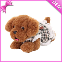 Stuffed dog with dress,girls dog plush toy,fantastic cute dog plush toy made in china