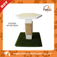 Artificial grass outdoor table cat furniture