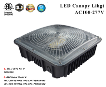 Factory IP66 DLC 45w 70w LED Gas Station LED Canopy Lights