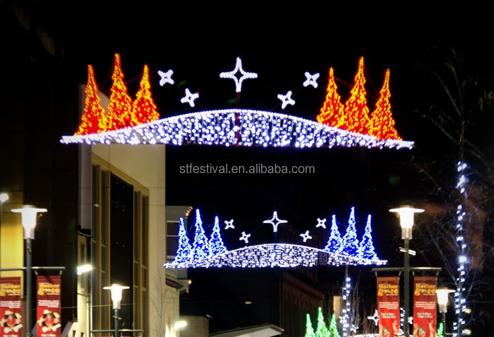 Beautiful motif light christmas street display