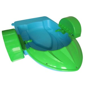 CE/TUV certification water park equipment power paddler boat,pedal pontoon boat for kids