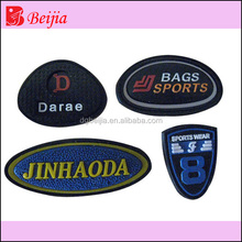 injection rubber in mold for cloth badge
