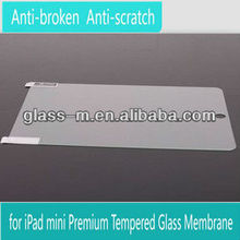 8-9H hardness!! tempered glass screen protector / screen guard / screen shield for Ipad Mini(AG)