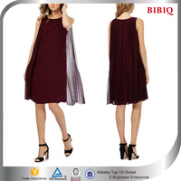 graceful chiffon dark red pleated cape shift dress cocktail dresses