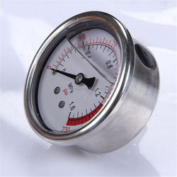 Durable Light Weight High Quality Clear 100Mm Dial Bottom Bourdon Tube Manometer