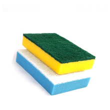 Promotion Durable Cleaning Non-Abrasive Nylon Green Scrub Industrial Kitchen Sponge Scouring Pad Shenzhen Factory