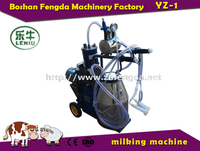men milking machine