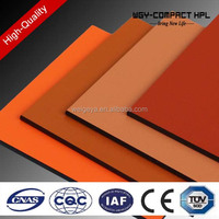 plain and wooden color phenolic resin compact hpl sheet