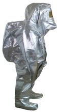 firefighter's heat protect aluminized suit overall with fire proof zipper