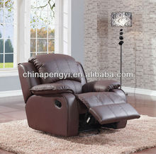 Living room swivel rocker recliner single chair top leather chair
