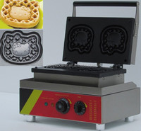 2014 autumn canton fair electric waffle maker newly unique design(HELLO KITTY shape)