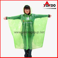 Degradable PE Disposable Poncho for promotion